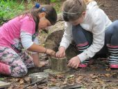 Forest school in Laxey Glen